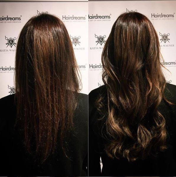 Voor en na hairweaving
